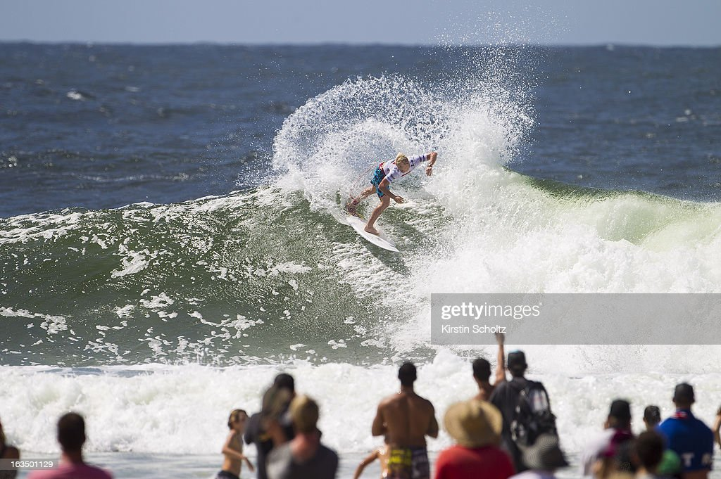 Nat Youg of the USA surfs during round three of the Quiksilver Pro on March 11, 2013 in Gold Coast, Australia.