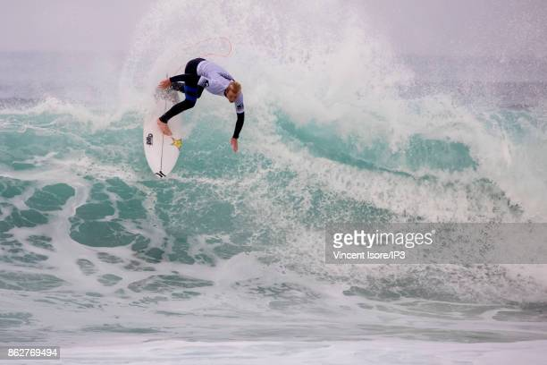 Nat Young from the US performs during the Quicksilver Pro France surf competition on October 12 2017 in Hossegor France he French stage of the World...