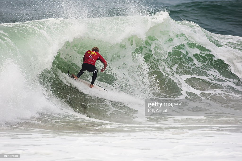 Nat Young of the United States placed runner-up in the final of the RipCurl Pro Portugal and secured the title of 2013 ASP WCT Rookie of the Year on October 17, 2013 in Peniche, Portugal.