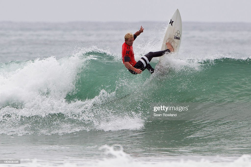 Nat Young of the U.S. surfs during round three at the Hurley Pro on September 17, 2013 in San Diego, California.