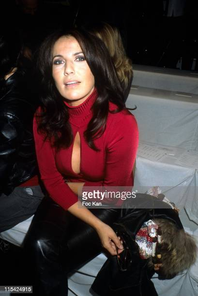 Natacha Amal during Paris Fashion Week Spring/Summer 2007 Jean Louis Scherrer Front Row and Backstage at Carrousel Du Louvre in Paris France
