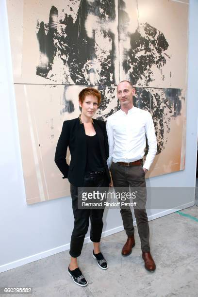 Natacha Polony and her brother Artist Sylvain Polony attend the 'Art Paris Art Fair' Exhibition Opening at Le Grand Palais on March 29 2017 in Paris...