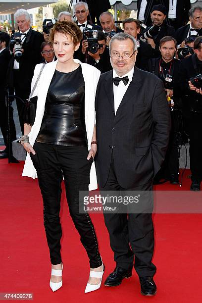 Natacha Polony and Perico Legasse attends the 'The Little Prince' premiere during the 68th annual Cannes Film Festival on May 22 2015 in Cannes France