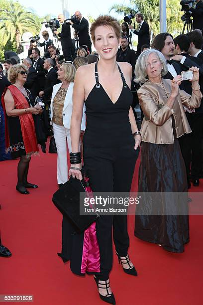 Natacha Polony attends a screening of 'Elle' at the annual 69th Cannes Film Festival at Palais des Festivals on May 21 2016 in Cannes France
