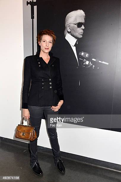 Natacha Polony attends 'A Visual Journey' Karl Lagerfeld Photo Exhibition Photocall at the Pinacotheque preview October 15 2015 in Paris France