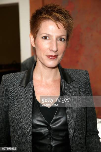 Natacha Polony attends 'Sud Radio' Press Conference at Brasserie 'Le Sud' on October 5 2017 in Paris France