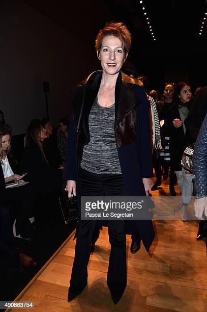 Natacha Polony attends the Barbara Bui show as part of the Paris Fashion Week Womenswear Spring/Summer 2016 on October 1 2015 in Paris France