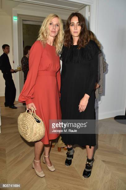 Natacha RamsayLevi and Sandrine Kiberlain attend Guy Bourdin inaugural exhibition and unveiling of Maison Chloe as part of Paris Fashion Week at...