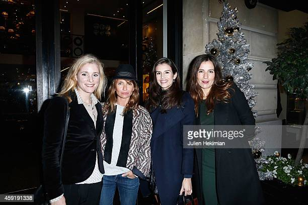 Natacha Regnier Axelle Laffont Louise Monot and Zoe Felix attend the Comite Du Faubourg Saint Honore Christmas Lighting cocktail on November 18 2014...