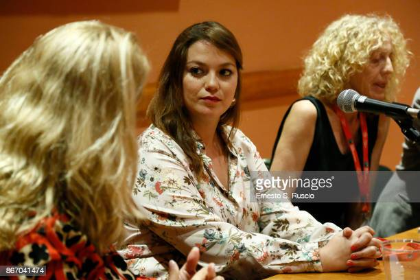 Natalia Aguledo Campillo attends 'Nadie Nos Mira ' press conference during the 12th Rome Film Fest at Auditorium Parco Della Musica on October 27...