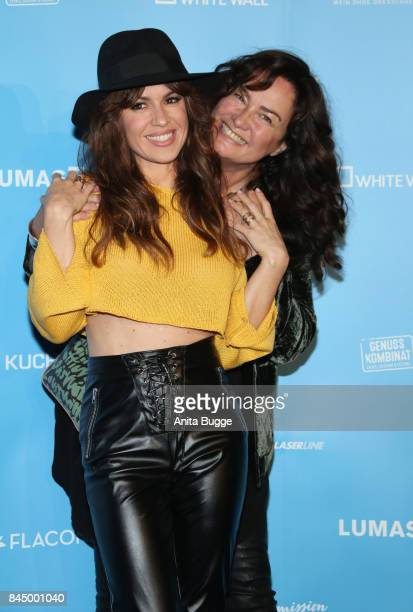 Natalia Avelon and Gabo attend the opening of the exhibition 'Gabo Fame' at HumboldBox on September 9 2017 in Berlin Germany