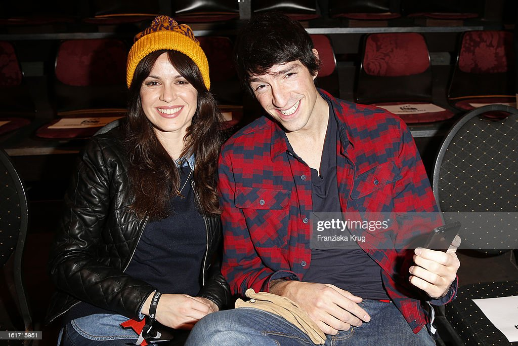 Natalia Avelon and Sofiane Benbrahim attend the 5th '99FireFilmsAward' Show at the Admiralspalast on February 14 2013 in Berlin Germany