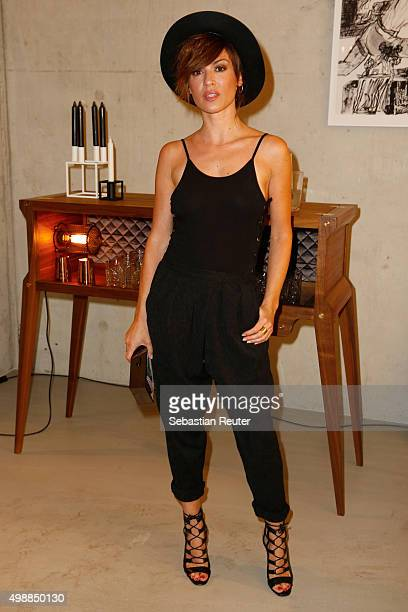 Natalia Avelon attends the Absolut Art Apartment opening night on November 26 2015 in Berlin Germany