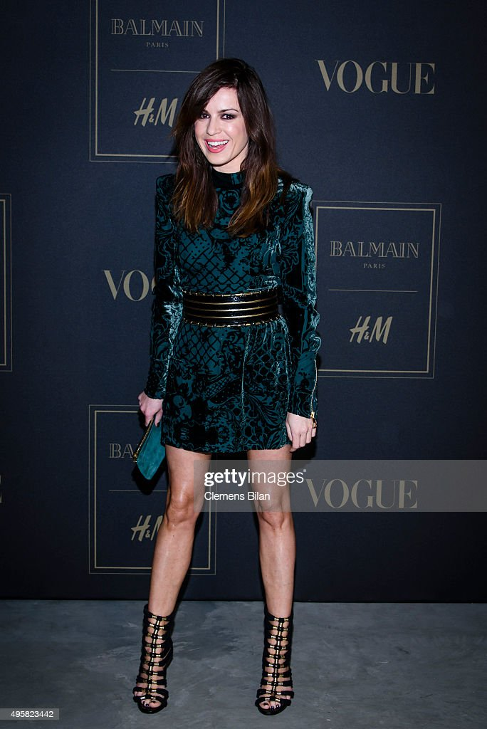 Natalia Avelon attends the BALMAIN x HM Berlin Launch Party on November 4 2015 in Berlin Germany