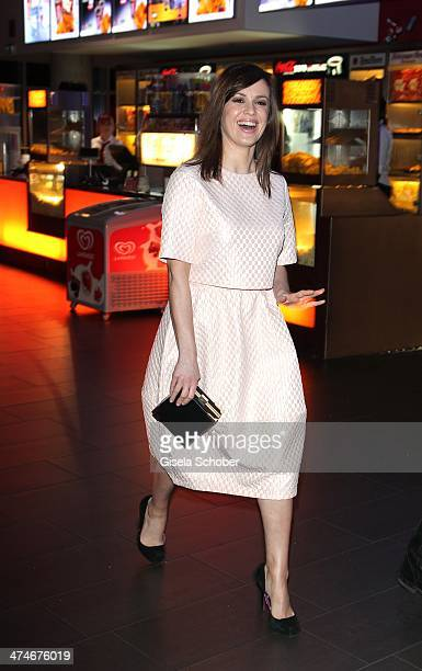 Natalia Avelon attends the German premiere of the film 'Alles Inklusive' at Mathaeser Filmpalast on February 24 2014 in Munich Germany