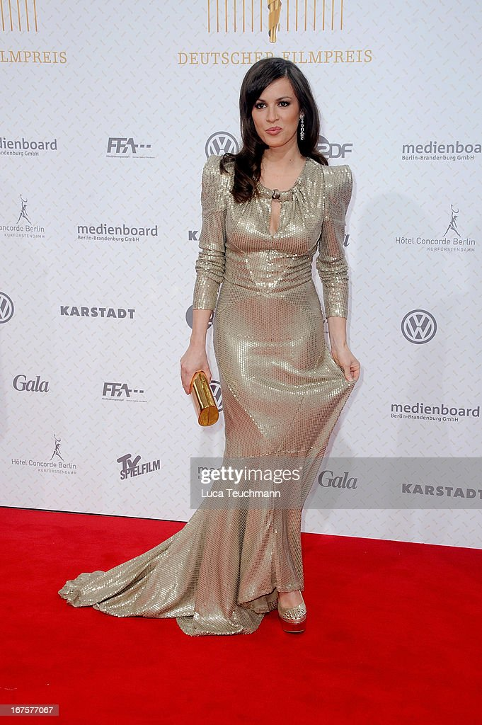 Natalia Avelon attends the Lola German Film Award 2013 at Friedrichstadtpalast on April 26, 2013 in Berlin, Germany.