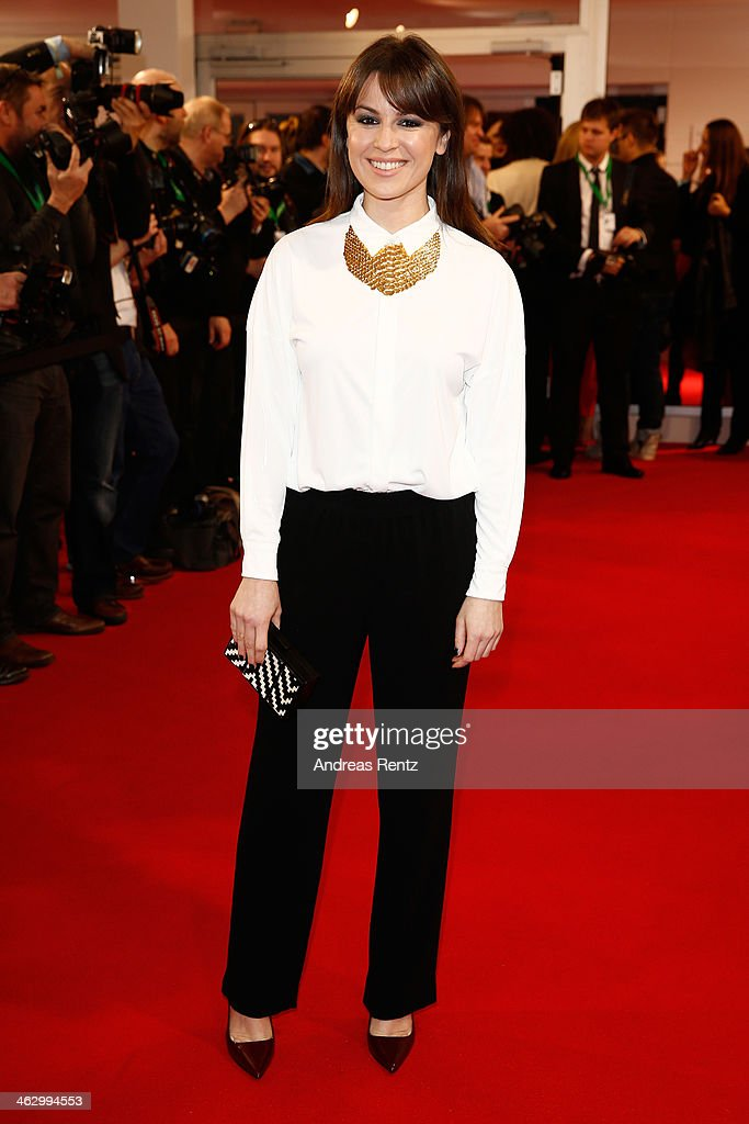 Natalia Avelon attends the Marc Cain show during Mercedes-Benz Fashion Week Autumn/Winter 2014/15 at Brandenburg Gate on January 16, 2014 in Berlin, Germany.