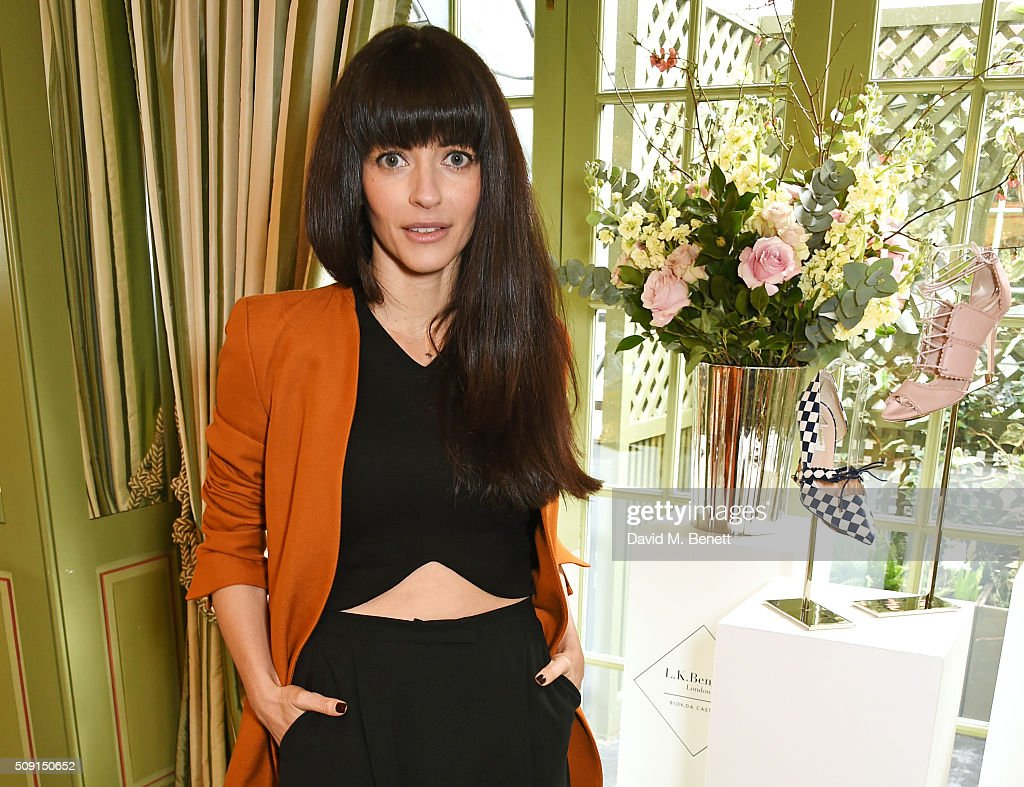 Natalia Barbieri, designer and founder of Bionda Castana, attends the L.K.Bennett x Bionda Castana lunch at Mark's Club on February 9, 2016 in London, England.