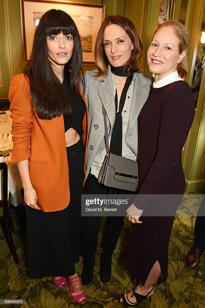 Natalia Barbieri, designer and founder of Bionda Castana, Jo Glynn-Smith and Jennifer Portman, designer and founder of Bionda Castana, attend the L.K.Bennett x Bionda Castana lunch at Mark's Club on February 9, 2016 in London, England.