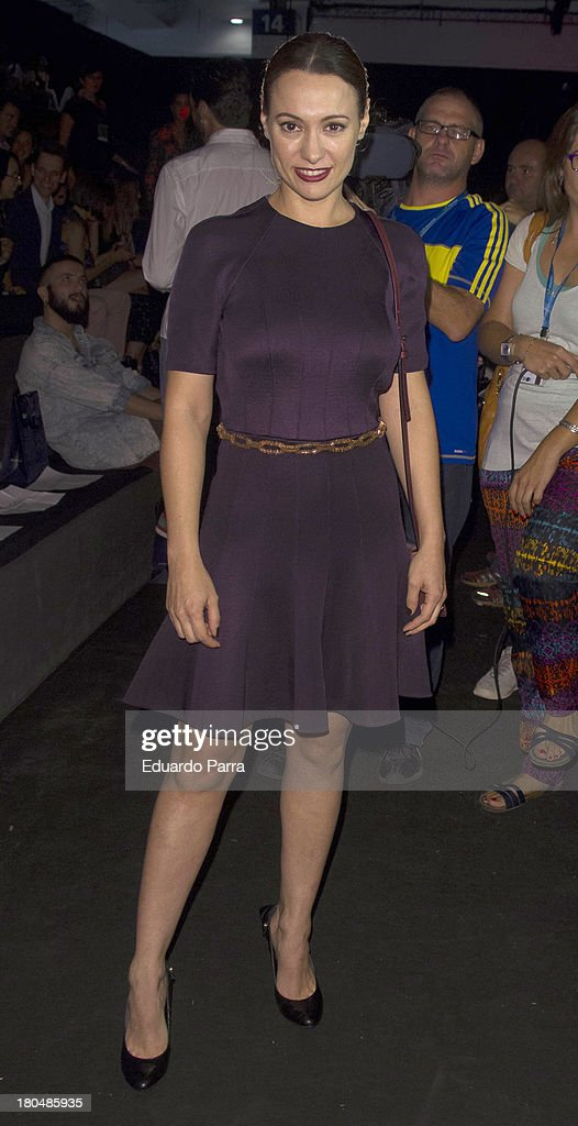 Natalia Berveke attends a fashion show during the Mercedes Benz Fashion Week Madrid Spring/Summer 2014 on September 13, 2013 in Madrid, Spain.
