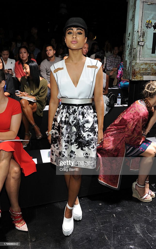 Natalia Cappuccini attends the Prabal Gurung fashion show during Mercedes-Benz Fashion Week Spring 2014 at Skylight at Moynihan Station on September 7, 2013 in New York City.