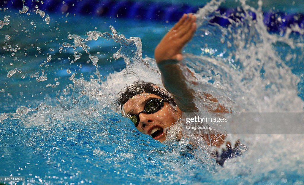 Natalia De Luccas of Brazil swims the 1st leg during the final of the womens 400m freestyle at the Aquatic Centre at Sydney Olympic Park Sports Centre on January 19, 2013 in Sydney, Australia.