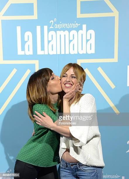 Natalia de Molina and Celia de Molina attend 'La Llamada' premiere at the Lara Theater on April 15 2015 in Madrid Spain