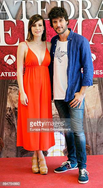 Natalia de Molina and Daniel Grao attend the presentation of the new TV series 'La Catedral del mar' on August 23 2016 in Madrid Spain