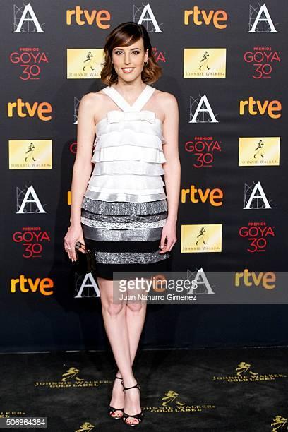 Natalia de Molina attends 'Candidates to Goya Cinema Awards 2016 Dinner Party' photocall at Palacio de Cibeles on January 26 2016 in Madrid Spain
