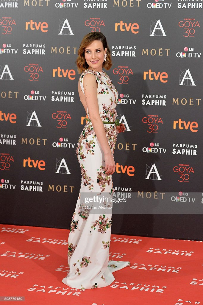 <a gi-track='captionPersonalityLinkClicked' href=/galleries/search?phrase=Natalia+de+Molina&family=editorial&specificpeople=11184153 ng-click='$event.stopPropagation()'>Natalia de Molina</a> attends Goya Cinema Awards 2016 at Madrid Marriott Auditorium on February 6, 2016 in Madrid, Spain.