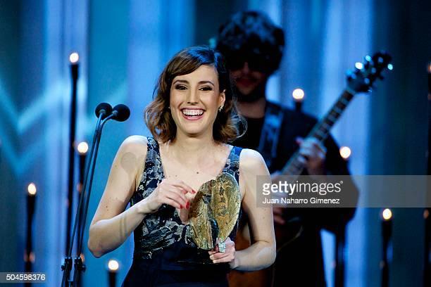 Natalia de Molina attends 'Jose Maria Forque Awards 2015' at the Palacio Municipal de Congresos on January 11 2016 in Madrid Spain