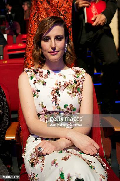 Natalia de Molina attends the 30th edition of the 'Goya Cinema Awards' ceremony at Madrid Marriott Auditorium on February 6 2016 in Madrid Spain
