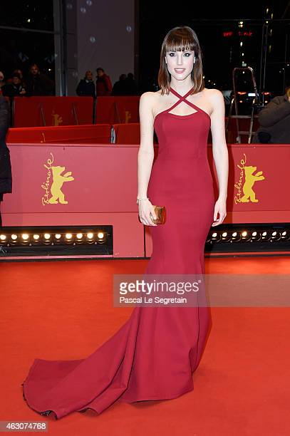 Natalia de Molina attends the 'As We Were Dreaming' premiere during the 65th Berlinale International Film Festival at Berlinale Palace on February 9...