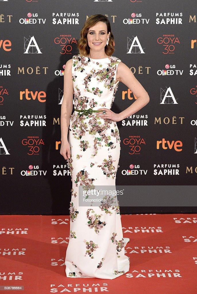 Natalia de Molina attends the Goya Cinema Awards 2016 Ceremony at Madrid Marriott Auditorium on February 6 2016 in Madrid Spain