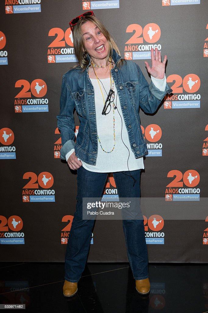 Natalia Dicenta attends the 'Vicente Ferrer' Foundation 20th Anniversary photocall at the 'Palacio de la Prensa' Cinema on May 24, 2016 in Madrid, Spain.