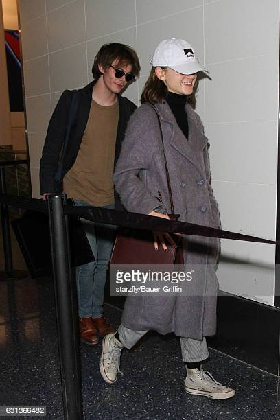 Natalia Dyer and Charlie Heaton are seen at LAX on January 09 2017 in Los Angeles California