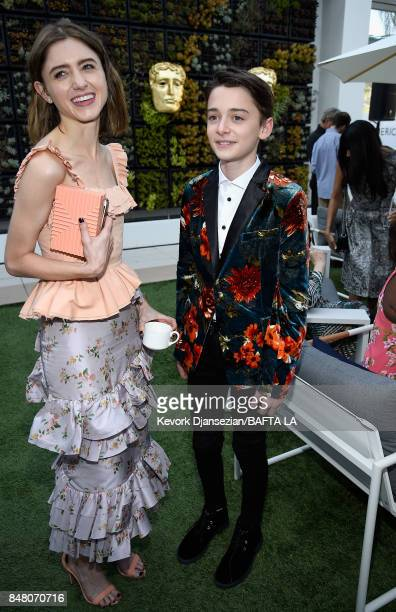 Natalia Dyer and Noah Schnapp attends the BBC America BAFTA Los Angeles TV Tea Party 2017 at The Beverly Hilton Hotel on September 16 2017 in Beverly...
