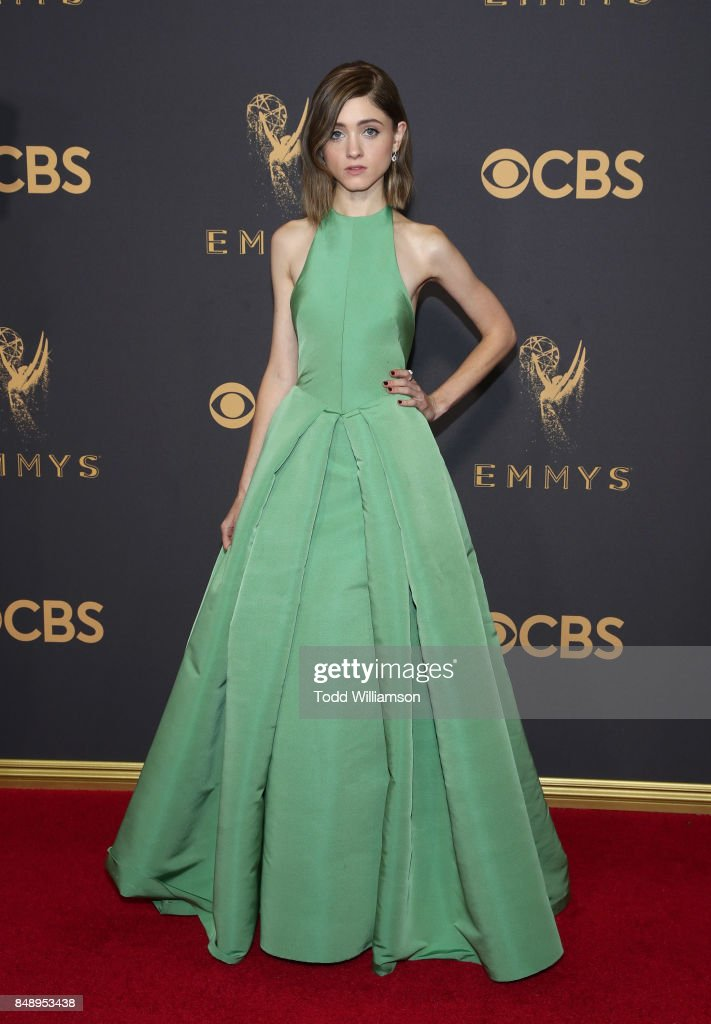 Natalia Dyer attends the 69th Annual Primetime Emmy Awards at Microsoft Theater on September 17, 2017 in Los Angeles, California.
