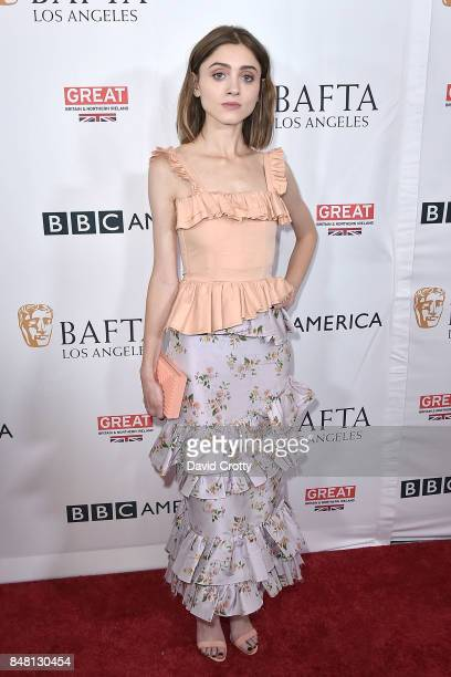 Natalia Dyer attends the BBC America BAFTA Los Angeles TV Tea Party 2017 Arrivals at The Beverly Hilton Hotel on September 16 2017 in Beverly Hills...