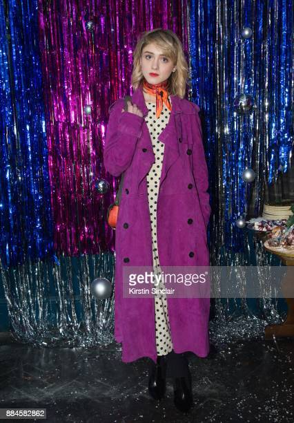 Natalia Dyer attends the Burberry x Cara Delevingne Christmas Party on December 2 2017 in London England