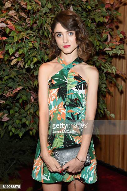 Natalia Dyer attends the Discovery's 'Manhunt Unabomber' World Premiere at the Appel Room at Jazz at Lincoln Center Frederick P Rose Hall on July 19...