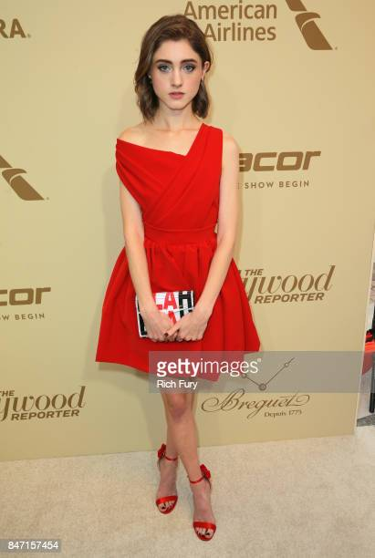 Natalia Dyer attends The Hollywood Reporter and SAGAFTRA Inaugural Emmy Nominees Night presented by American Airlines Breguet and Dacor at the...