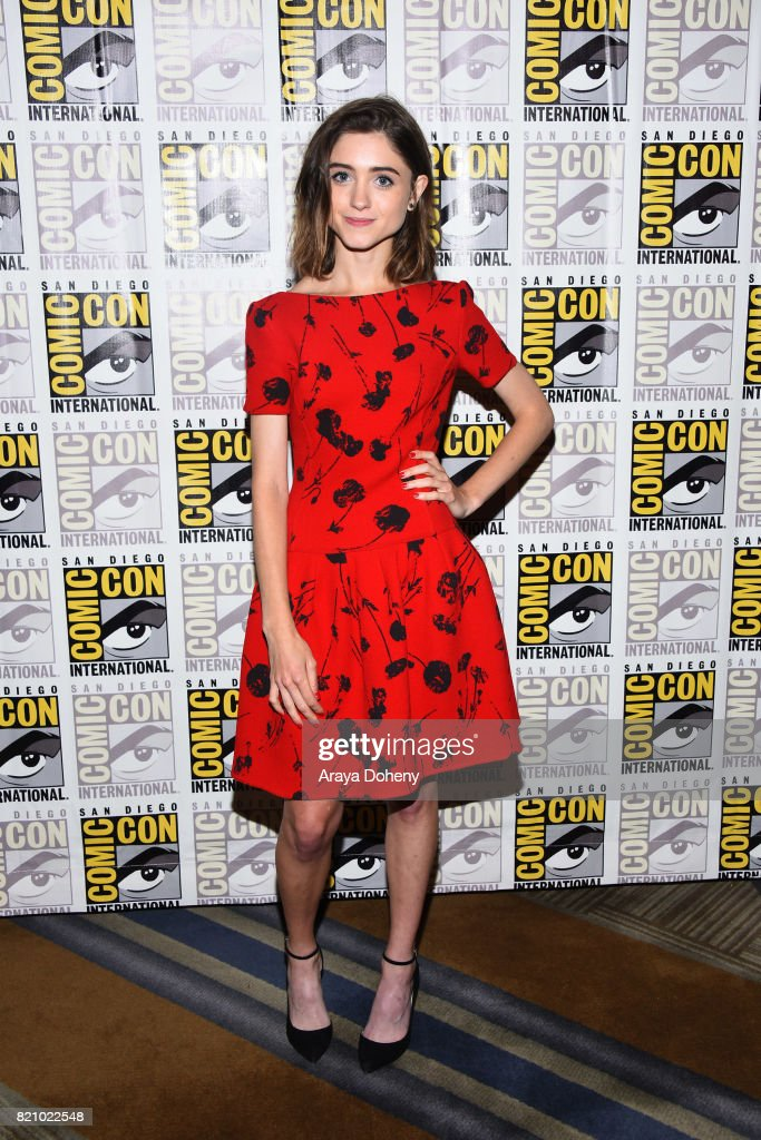 Natalia Dyer attends the 'Stranger Things' press conference at Comic-Con International 2017 on July 22, 2017 in San Diego, California.