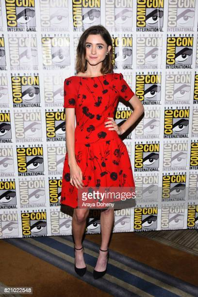 Natalia Dyer attends the 'Stranger Things' press conference at ComicCon International 2017 on July 22 2017 in San Diego California
