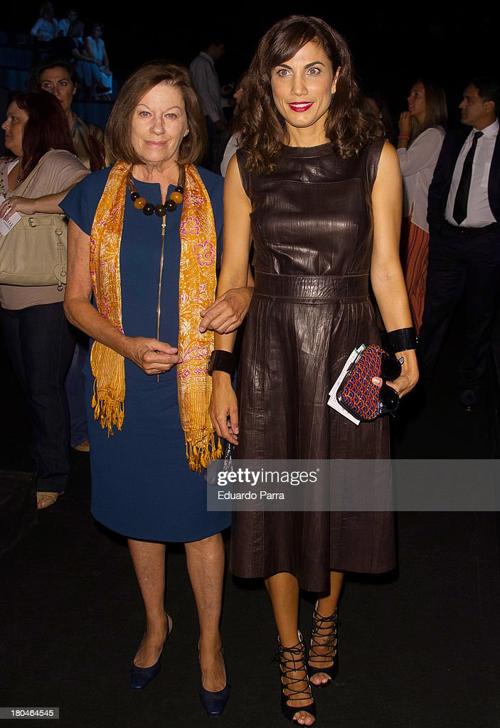 Natalia Figueroa and Toni Acosta attend a fashion show during the Mercedes Benz Fashion Week Madrid Spring/Summer 2014 on September 13, 2013 in Madrid, Spain.