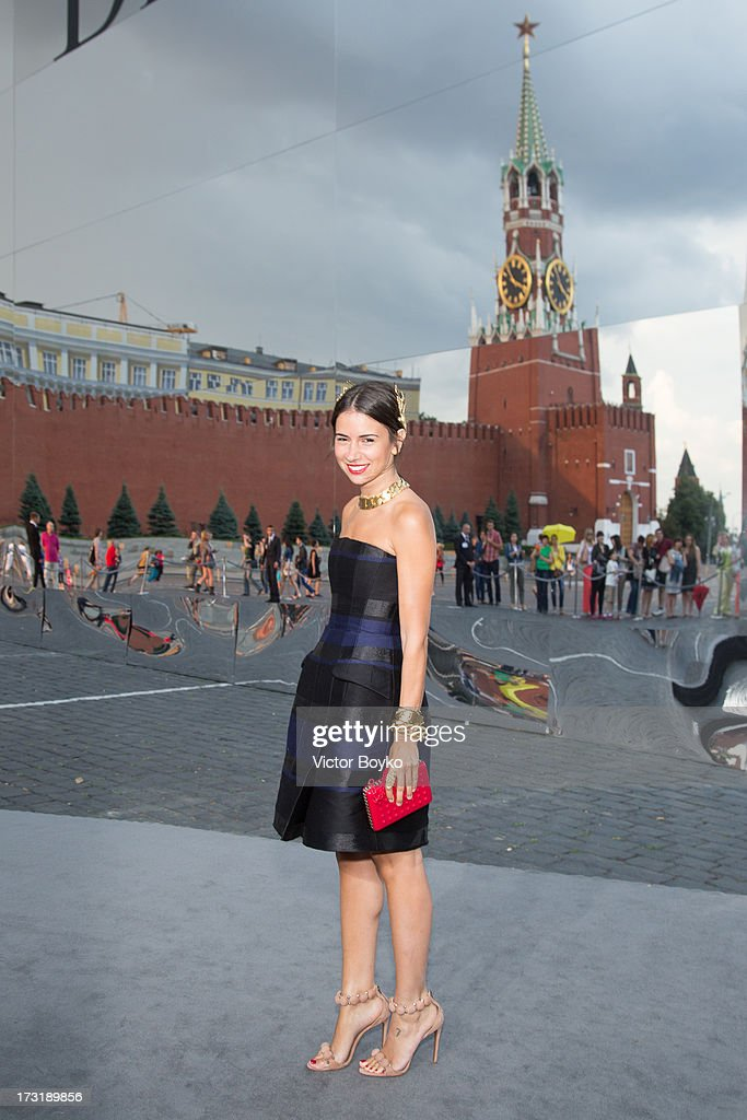 Natalia Goldenberg attends the Dior A/W 2013-2014 show at Red Square on July 9, 2013 in Moscow, Russia.