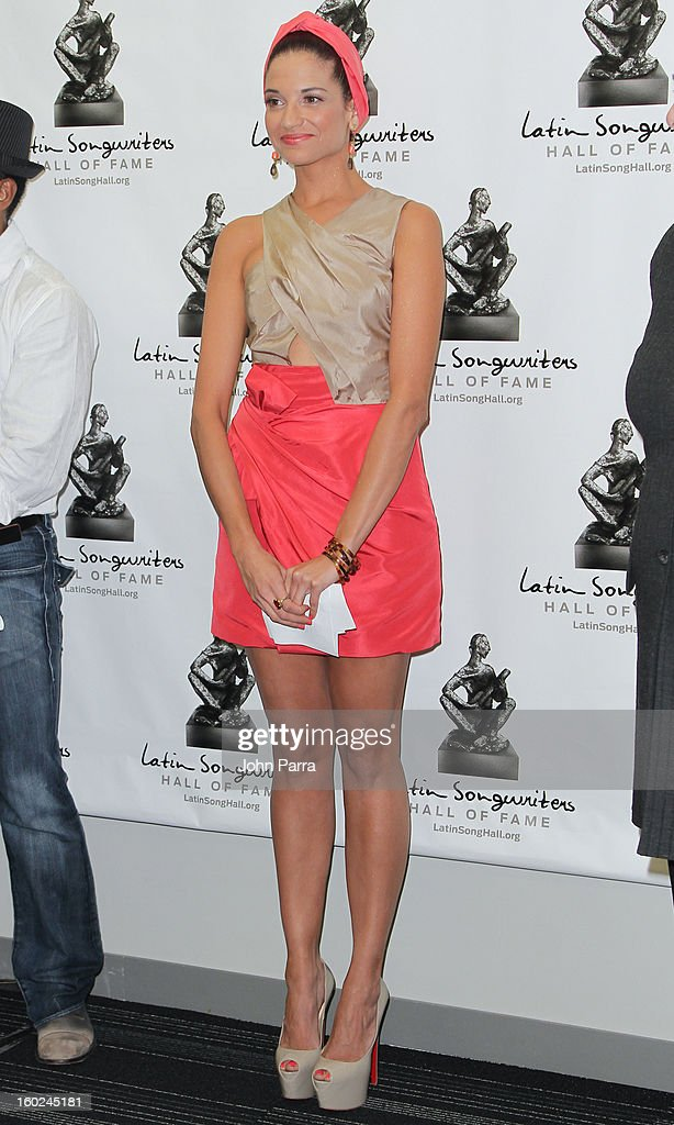 Natalia Jimenez attends Latin Songwriters Hall Of Fame announcement on January 28, 2013 in Miami, Florida.