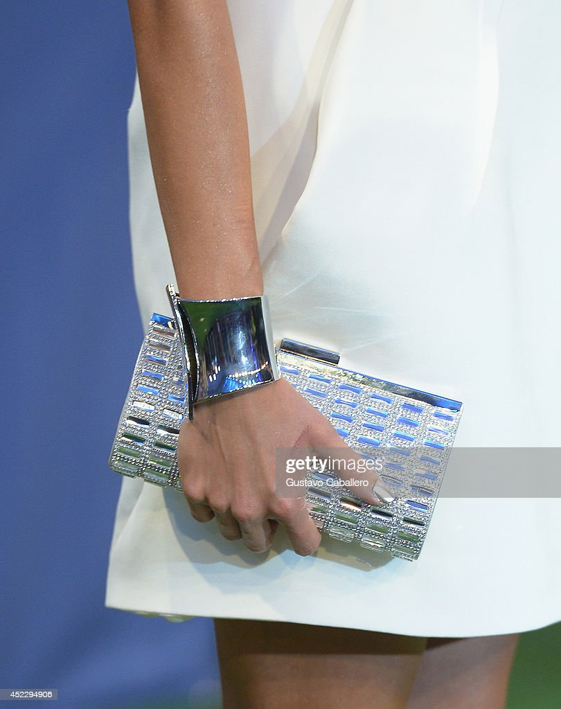 Natalia Jimenez (clutch detail) attends the Premios Juventud 2014 at The BankUnited Center on July 17, 2014 in Coral Gables, Florida.