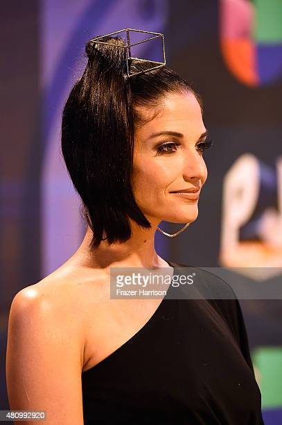 Natalia Jimenez attends Univision's Premios Juventud 2015 at Bank United Center on July 16 2015 in Miami Florida