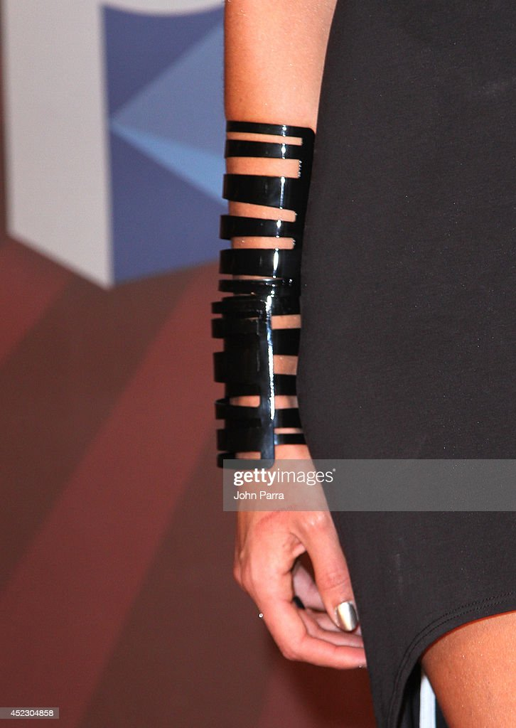 Natalia Jimenez poses in the press room during the Premios Juventud 2014 at The BankUnited Center on July 17, 2014 in Coral Gables, Florida.